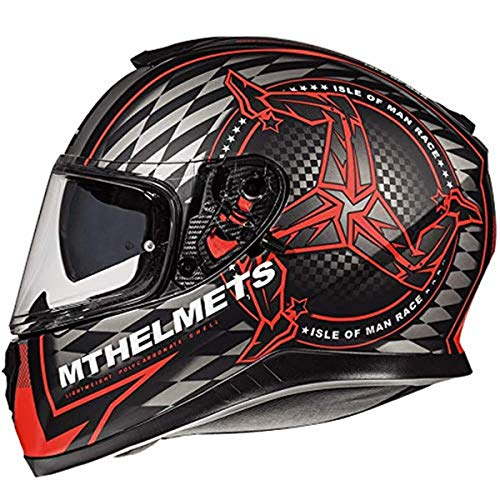 Casco Mt Thunder 3 Sv Isle of Man B5 Fluor Rojo S