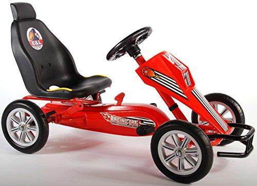 go-Kart Kettler für Kinder mit Bremse und verstellbarer Sitz EVA-Reifen rot