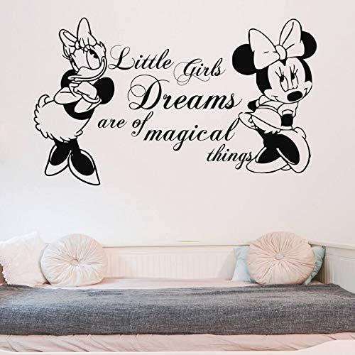 Kinderzimmer Dekor Minnie Mouse und Daisy Aufkleber Kinderzimmer Zitate Wandaufkleber Vinyl Minnie Mouse Wandbild Removable Wallpaper96x57cm - Daisy Küche