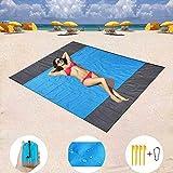 Carremark 210x200cm Sand Free Beach Mat Outdoor Picnic Blanket rug Mattress Pad
