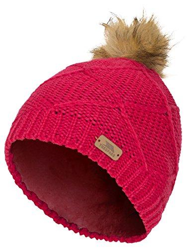 Trespass Tanisha, Raspberry, 2/4, Warme Wintermütze für Kinder / Mädchen 2-12 Jahre, 2-4 Jahre, Rosa / Pink | 05045274420753