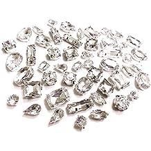 Acrílico Para coser TRANSPARENTE Facetado Cristales, Pedrería, pedrería, Confección, Montadas - MIXED random Shapes (50pcs)