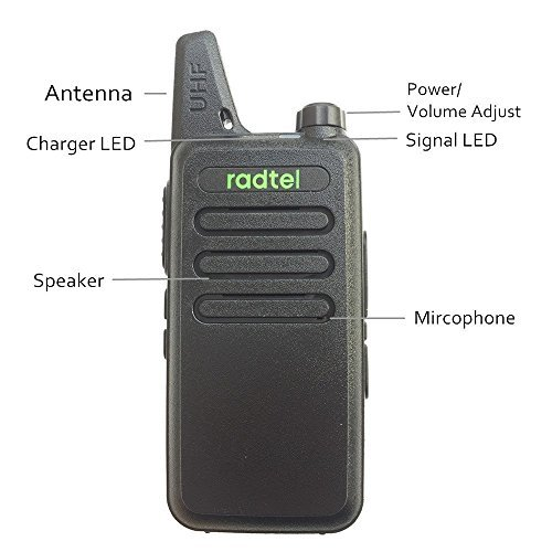 Radtel RT-10 Transceptor portatil UHF Two Way radio 16 Channels Walkie Talkie Compatible WLN KD-C1