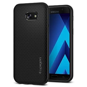 Spigen Coque Samsung A5 2017, Coque Galaxy A5 2017 [Liquid Air] Coussin d'air, Flexible, Silicone Souple/Housse Etui Coque Samsung Galaxy A5 2017 - Noir