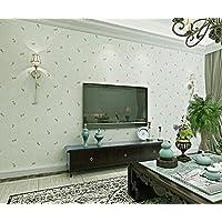 Kuamai Im Antiken Landhausstil Nonwoven Europäischen Pastorale Kleines  Muster Schlafzimmer Wohnzimmer Tv Hintergrund Mauer Grün