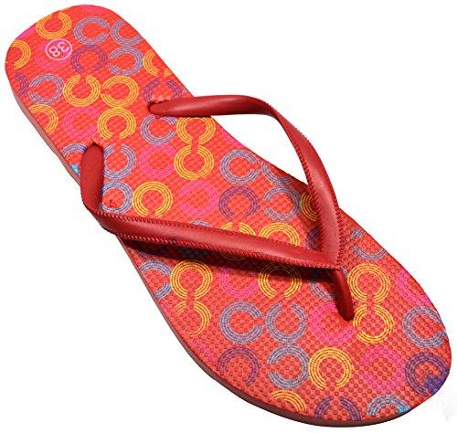colori per da spiaggia e la lestate Red Links e Design donna Octave® stili diversi Infradito qC5ZPP