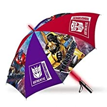 Kids Regenschirm mit LED-Beleuchtung, 45 cm, Automatischer Regenschirm, klassisch, 80 cm, Mehrfarbig