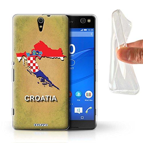 Stuff4® Gel TPU Hülle/Hülle für Sony Xperia C5 Ultra/Kroatien/Kroatische Muster/Flagge Land Kollektion