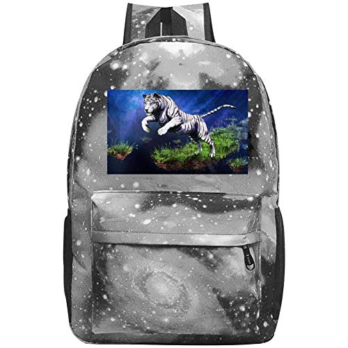 dsgsd Schultasche Jumping Tiger Casual Large-Capacity Star Backpack Unisex Travel Bag Gray -