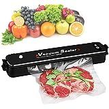 Küche Vakuumiergerät mini 34cm Folienschweißgeräte Vakuumierer 90w Lebensmittelaufbewahrung ohne Konservierungsstoffe automatisch vakuumieren und schweißen, inkl. 15st. Folienbeutel
