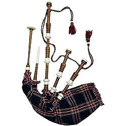Tc Schottischen Great Highland Dudelsack Rosewood Nachahmung Elfenbein Braun Natur Farbe Verschiedene Tartan Bereit Zu Spielengaitadudelsack Black Stewart Tartan