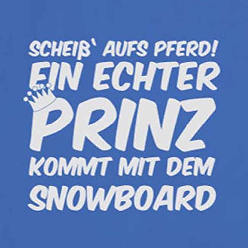 Ein echter Prinz kommt mit dem Snowboard - Damen T-Shirt Lila