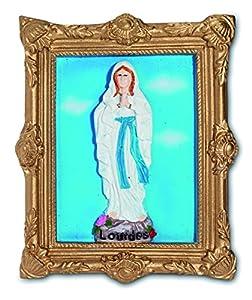 Katerina Prestige-Estatua imán Virgen de Lourdes en Marco, re0270