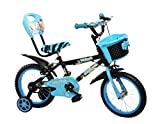 #6: Little Champ Star 14 inch Kids Bicycle 3 to 5 Years Kids Bike (Black Sky)