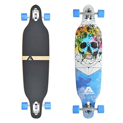 Apollo Longboard Molokai, Komplettboard, Twin-Tip Drop-Through Freeride Cruiser Board