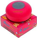 Showermate Wireless Bluetooth Lautsprecher | Wasserdichtes Duschradio mit Freisprecheinrichtung und eingebautem Mikrofon | Kompatibel mit Allen Bluetooth Geräten - Rosa -