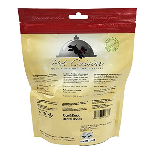 Pet-Cuisine-Dog-Training-Snacks-Puppy-Chews-Natural-Treats-Duck-Sandwich-Dental-Bones-300g