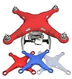 O'woda Drohne Körper Gehäuse Abdeckung Weiche Silikon Scratchproof Hülle Verdicken Schutzhülle Abdeckungsfall für DJI Phantom 3 Series Drone (Rot)