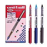 Uni-ball Eye Micro Ub-150 Gel Ink Pen - 0.5 Mm -Uni Mitsubishi Pencil (Black,Blue,Red Mix) 12 Pens