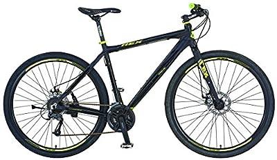 REXBike Jungen Mountainbike REX Alu-Cross Hardtail 28 Zoll Bergsteiger 6.3, schwarz matt, 52, 51476-3111