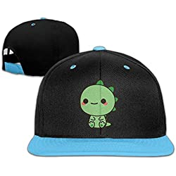 Kawaii Green Dinosaur Youth Unisex Contrast Color Cap Baseball Hats (4 Colors)