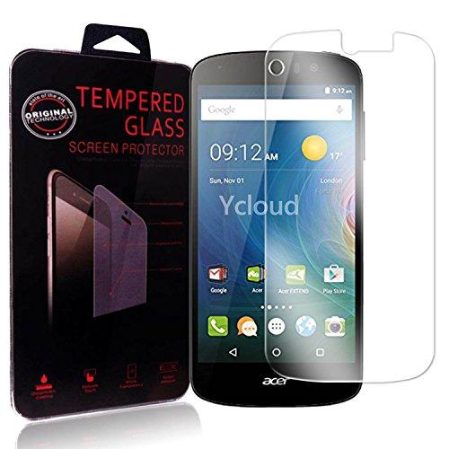 Ycloud Panzerglas Folie Schutzfolie Bildschirmschutzfolie für Acer Liquid Z530 screen protector mit Härtegrad 9H, 0,26mm Ultra-Dünn, Abger&ete Kanten
