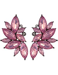 OOMPH Jewellery Gold & Purple Pink Floral Ear Cuff Earring For Women(Esn23R1) Price in India
