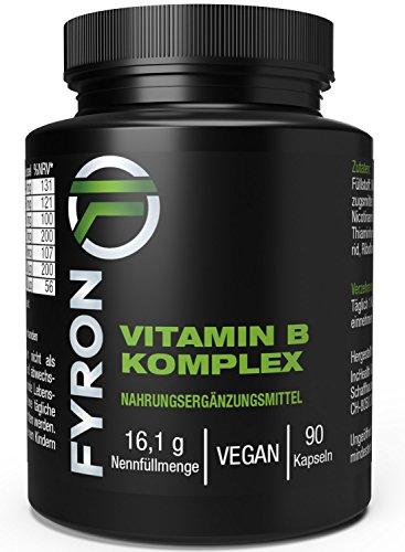 FYRON Vitamin B Komplex - Energie Haut Leistung Immunsystem - Vegan (Energie-komplex B)