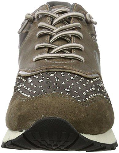 Bugatti - 422285033464, Pantofole Donna Grigio (Grey/ Metallic)
