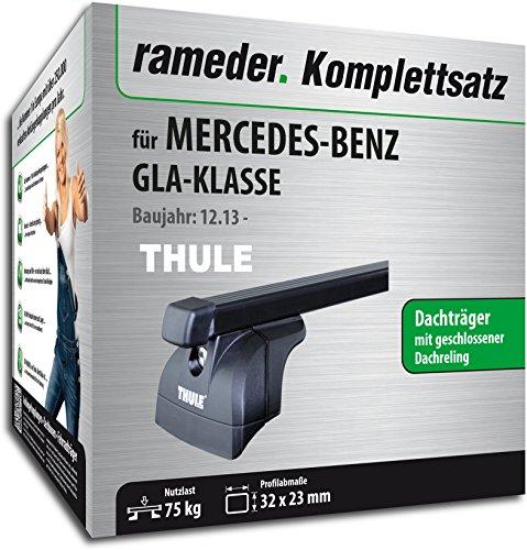 Rameder Komplettsatz, Dachträger SquareBar für Mercedes-Benz GLA-KLASSE (119581-11743-1)