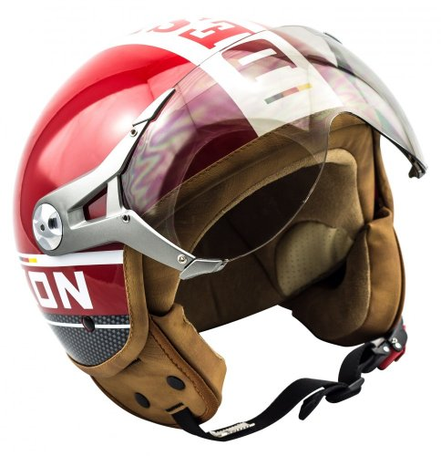 SOXON SP-325-PLUS Red · Scooter Urban Urbano Piloto Vintage Retro Helmet Moto motocicleta Cruiser Chopper Casco Demi-Jet Mofa Vespa Biker Bobber · ECE certificado · incluyendo parasol · incluyendo bolsa de casco · Rojo · XL (61-62cm)