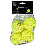 Hyper Pet Pack de 4 Balles de Tennis pour Chien Jaune