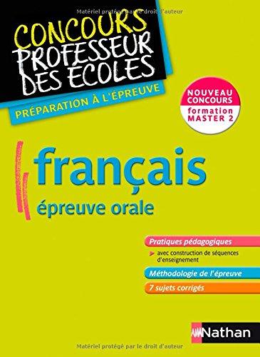 Français épreuve orale : Formation master 2