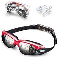 Jusial Gafas de Natación, Gafas para Nadar Antiempañado y Anti Rayos UV para Mejor Hombres