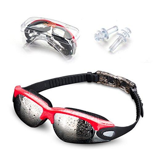 Jusial Gafas de Natación, Gafas para Nadar Antiempañado y Anti Rayos