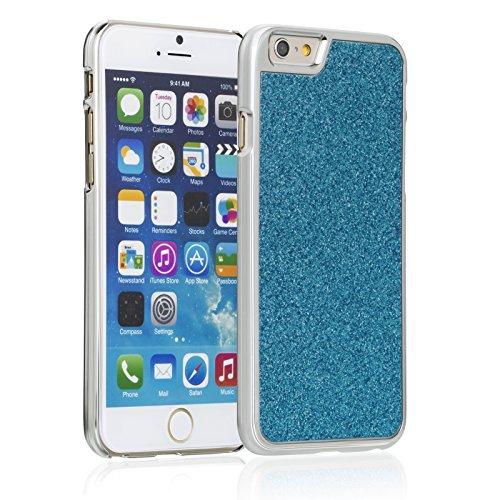 Fosmon Apple iPhone 6 Case (GLITTER) BLING Design Protective Back Snap on Case Cover bleu