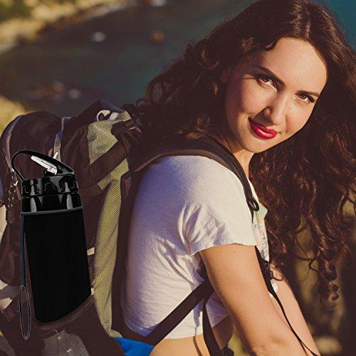 BeGreat faltbare Trinkflasche BPA-freie medizinisches Silikon Wasserflasche, tragbar, Auslaufsichere und FDA Geprüft für Outdoor, Reisen, Radfahren usw DE-0019