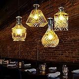 Iluminación Hogar Creativo País Bar Cafe Restaurante Salón Copa Araña Irradiación Dormitorio 15? De Vidrio-30? , 5