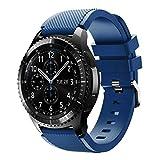 Bracelet de montre pour Samsung Gear S3Frontier, Ihee souple en silicone de remplacement Sport Strap Bracelet pour Samsung Gear S3Frontier M bleu marine