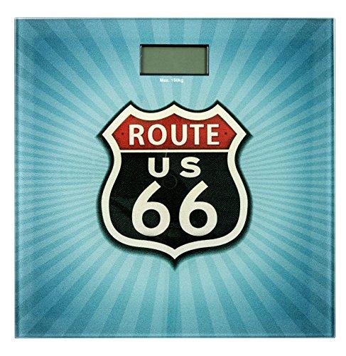 Wenko 21595100 Badwaage Vintage Route 66 LCD-Display