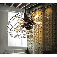 Retro bar ristorante creativo di ventilatore Lampadario (senza luce),42cm