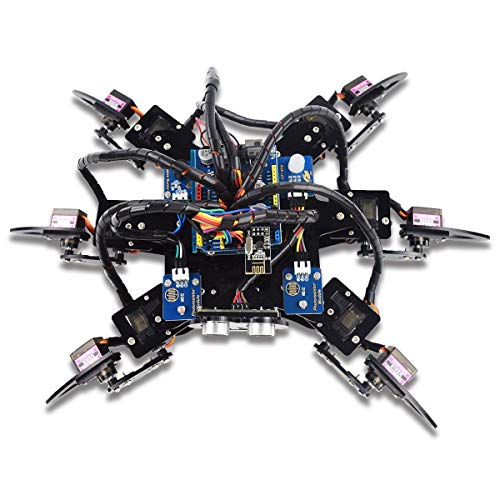 Adeept Hexapod 6-Legs Spider Robot Kit for Arduino UNO R3 and Nano | 2.4G Wireless Remote Control | Obstacle Avoidance | Robot Starter Kit, Arduino Robotics Model, Arduino Starter Kit with Tutorial (Wireless Control Kit)