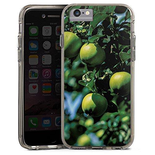 Apple iPhone 7 Plus Bumper Hülle Bumper Case Glitzer Hülle Pommes Tree Baum Bumper Case transparent grau