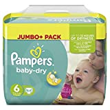 Pampers Baby Dry Größe 6 Extra Large 15+ kg Jumbo Plus Pack (1 x 64 Windeln)