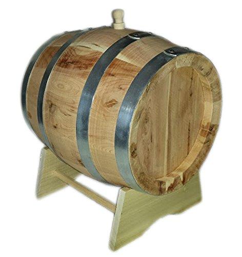 Oak Messing Barrel (Fass 5Liter Fässern Wacholder LT Dicke Latten 2.3cm Wasserhahn Messing)