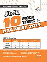 Super 10 Mock Tests for NTA NEET 2019