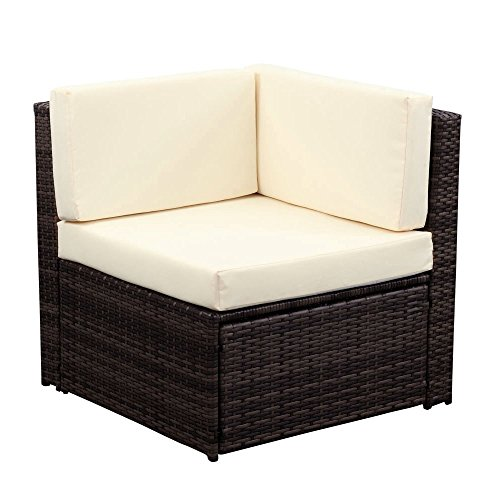ikayaa outdoor patio garden furniture sofa set