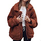 Romanstii Winterjacke Wintermantel Mantel Damen Grau Warme Fell Oberbekleidung Outwear Jacke Plüsch Wear Coat Winter Lady Jacket