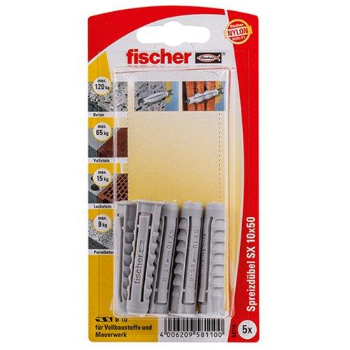 Tacos Fischer SX, 10 x 50 KP K SB-tarjeta, 58110
