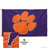 Clemson Tigers bestickt und appliziert Flagge
